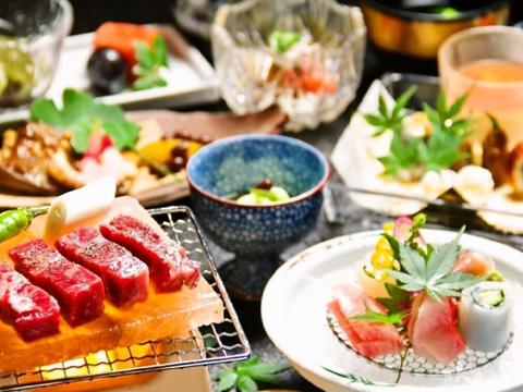 相模湾の新鮮な魚介類と旬の素材をふんだんに使った料亭風会席料理